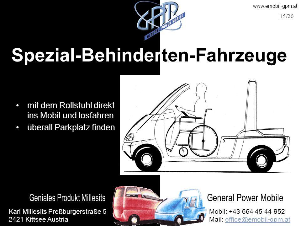Spezial-Behinderten-Fahrzeuge