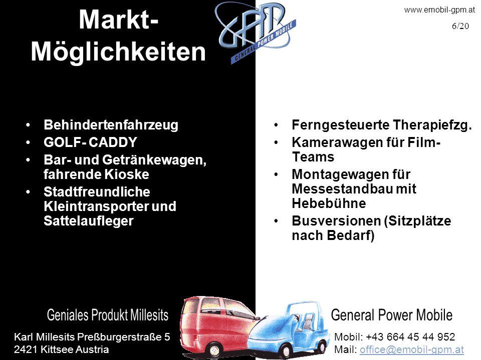 Markt-Möglichkeiten Behindertenfahrzeug GOLF- CADDY