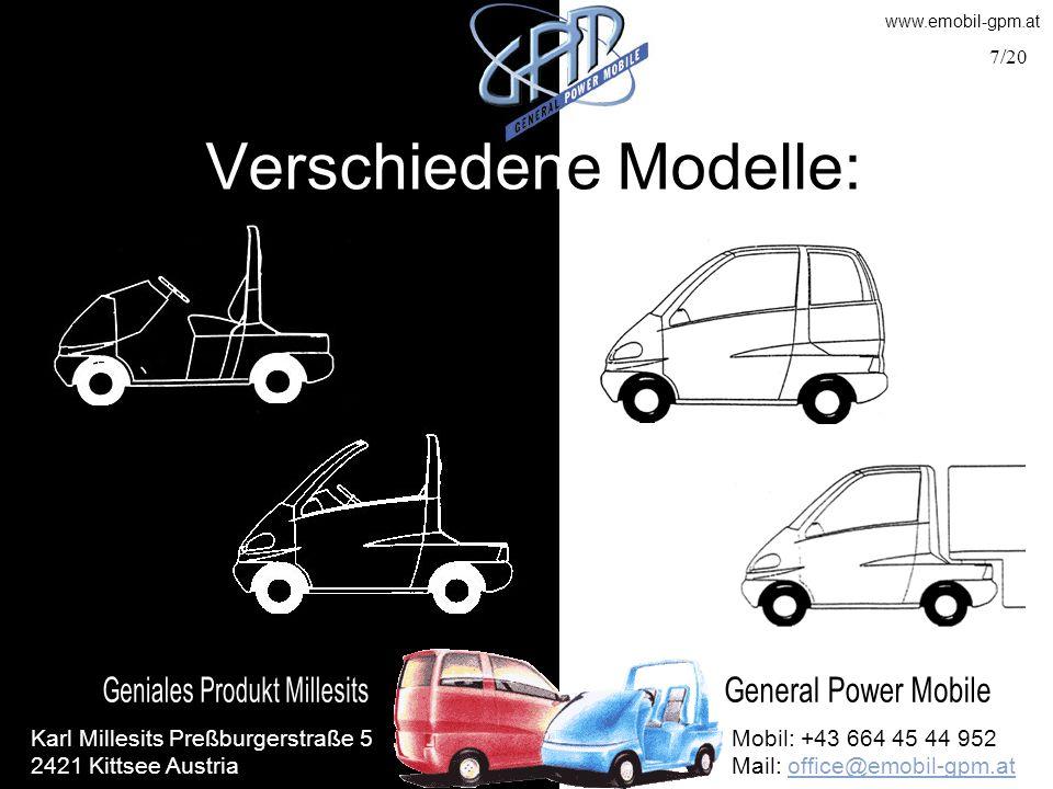 Verschiedene Modelle: