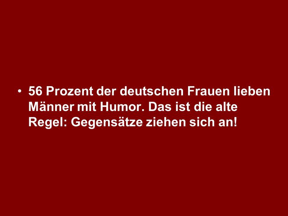 56 Prozent der deutschen Frauen lieben Männer mit Humor