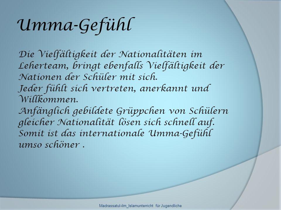 Madrassatul-ilm_Islamunterricht für Jugendliche