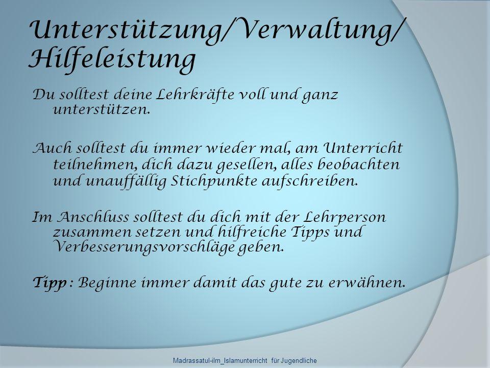 Unterstützung/Verwaltung/Hilfeleistung