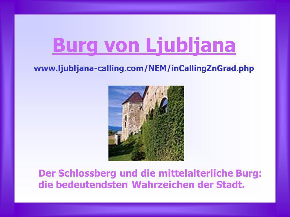 Burg von Ljubljana Der Schlossberg und die mittelalterliche Burg: