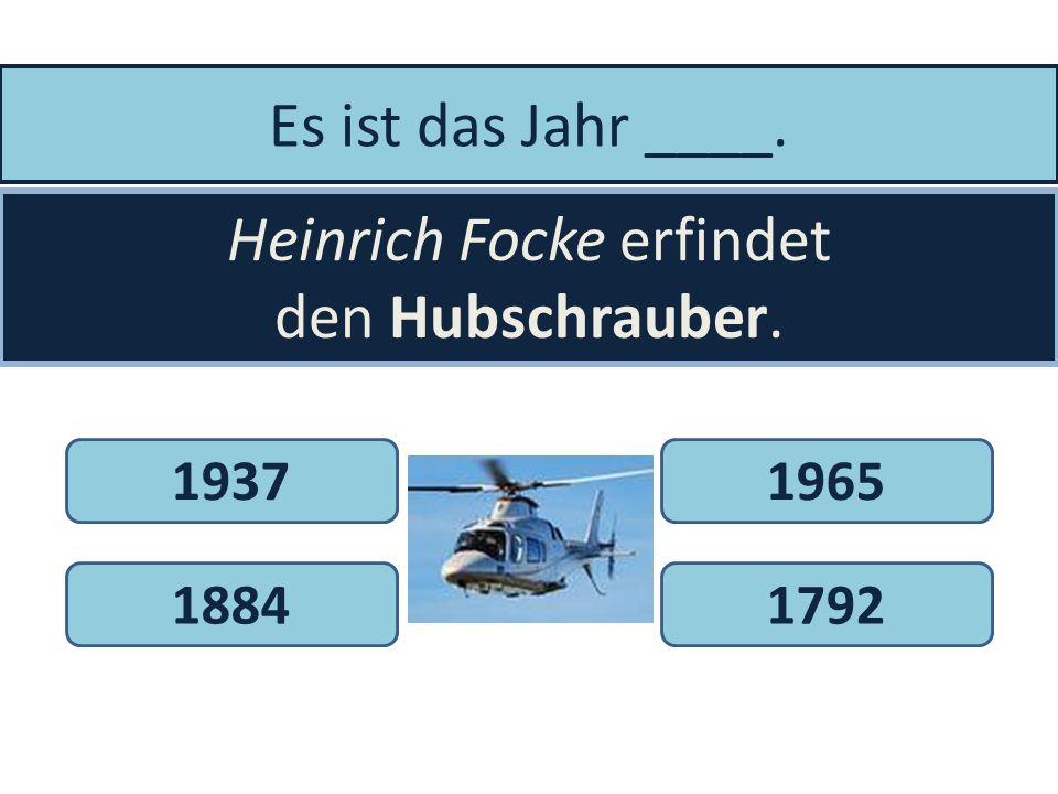 Heinrich Focke erfindet