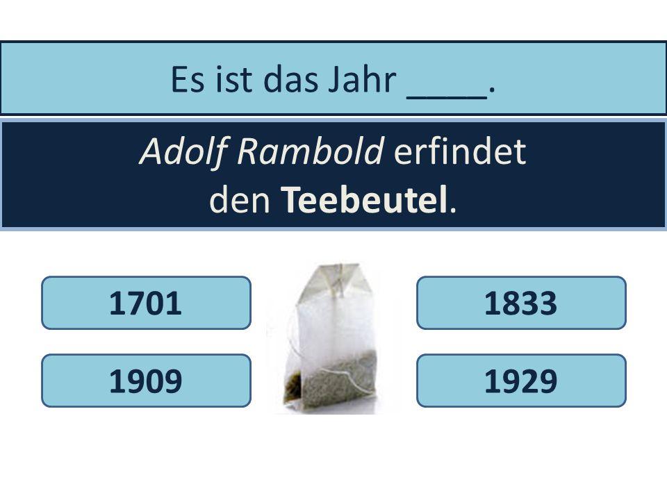 Adolf Rambold erfindet