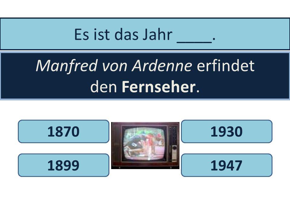 Manfred von Ardenne erfindet