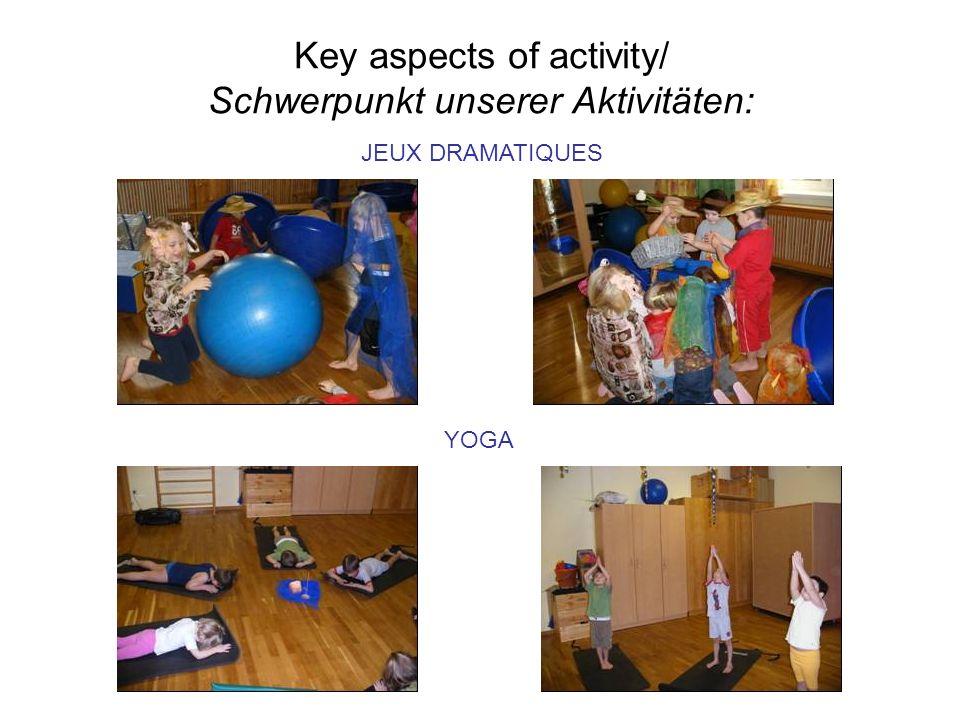 Key aspects of activity/ Schwerpunkt unserer Aktivitäten: