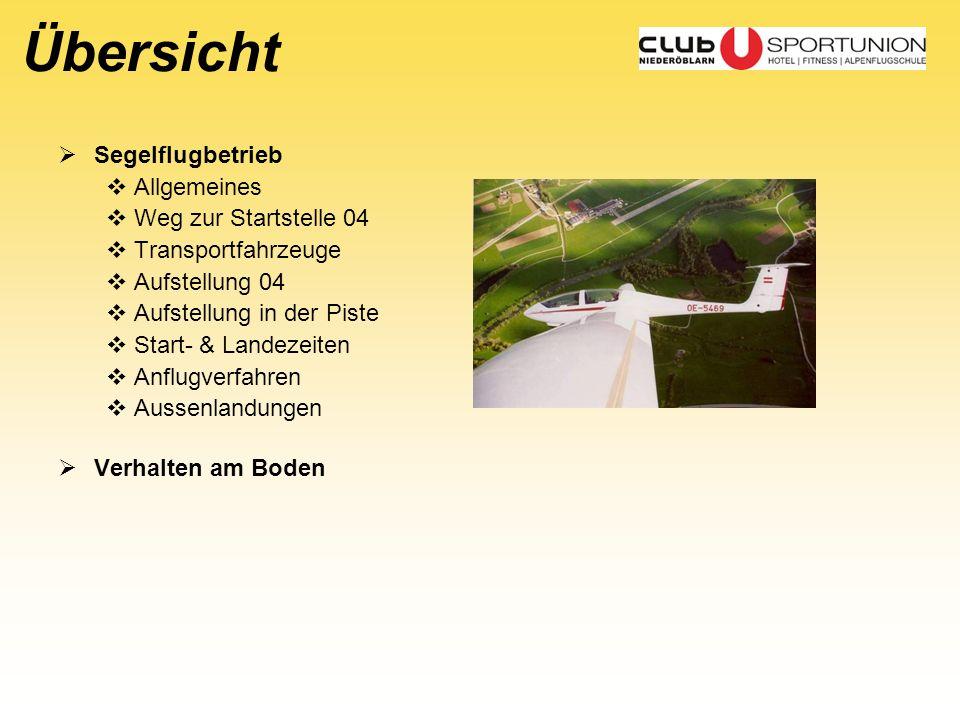 Übersicht Segelflugbetrieb Allgemeines Weg zur Startstelle 04