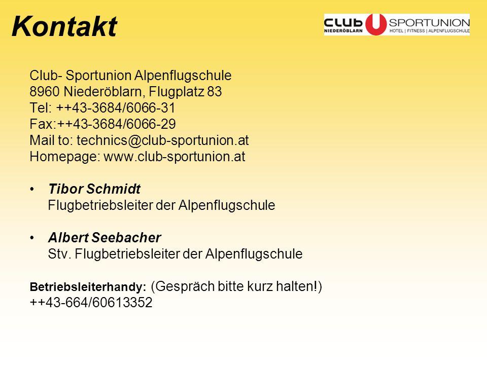 Kontakt Club- Sportunion Alpenflugschule
