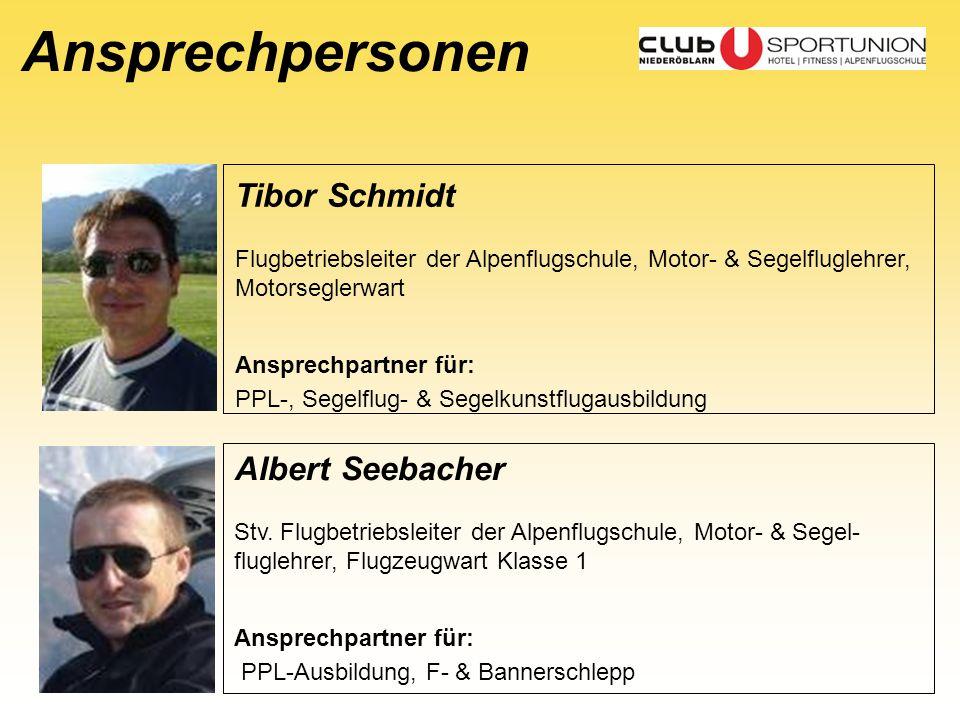Ansprechpersonen Tibor Schmidt Albert Seebacher