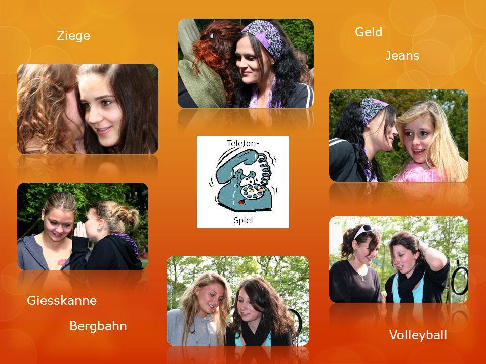 Geld Ziege Jeans Telefon- Spiel Giesskanne Bergbahn Volleyball