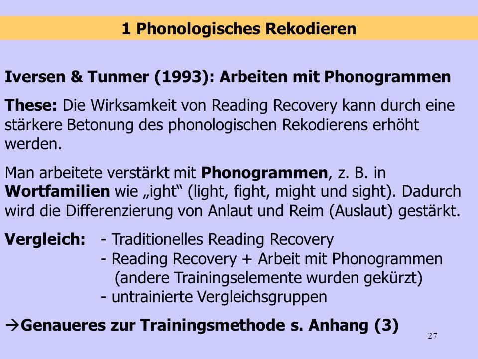 1 Phonologisches Rekodieren