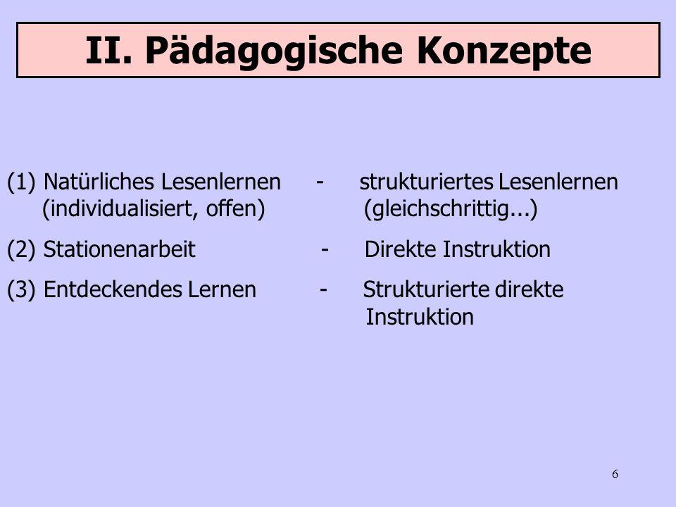 II. Pädagogische Konzepte