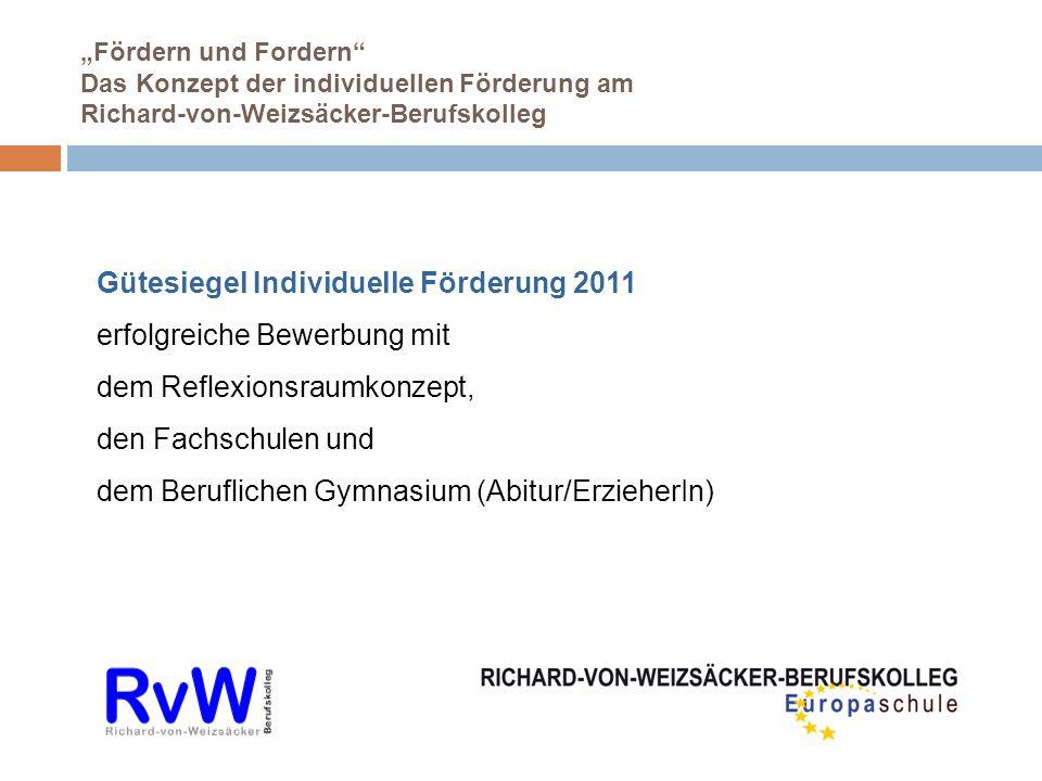 Gütesiegel Individuelle Förderung 2011 erfolgreiche Bewerbung mit