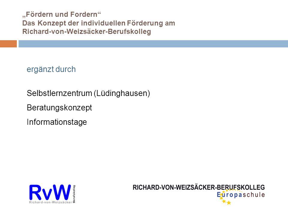 Selbstlernzentrum (Lüdinghausen) Beratungskonzept Informationstage