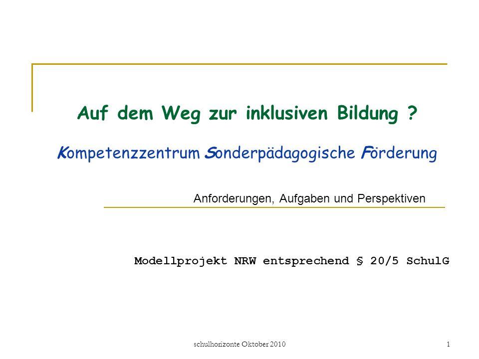 Modellprojekt NRW entsprechend § 20/5 SchulG