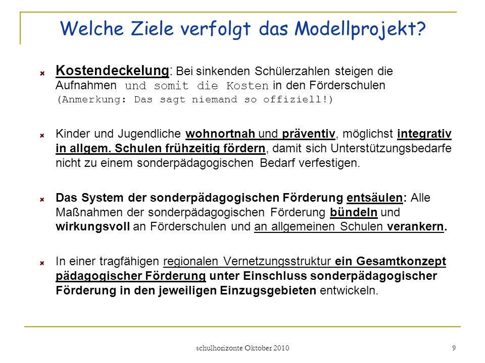 Welche Ziele verfolgt das Modellprojekt