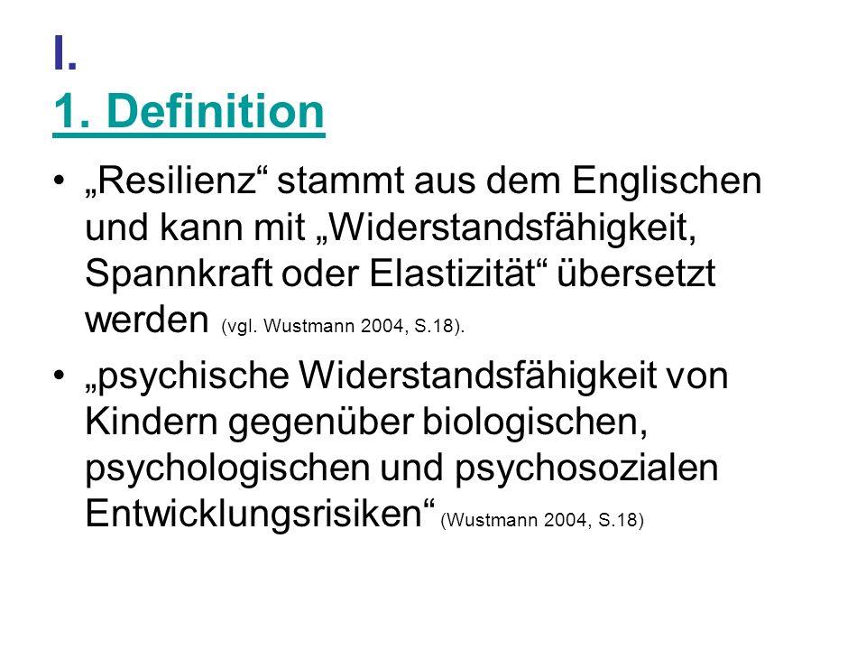 I. 1. Definition