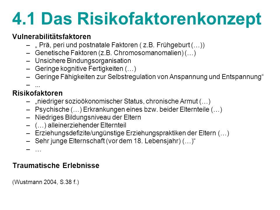 4.1 Das Risikofaktorenkonzept