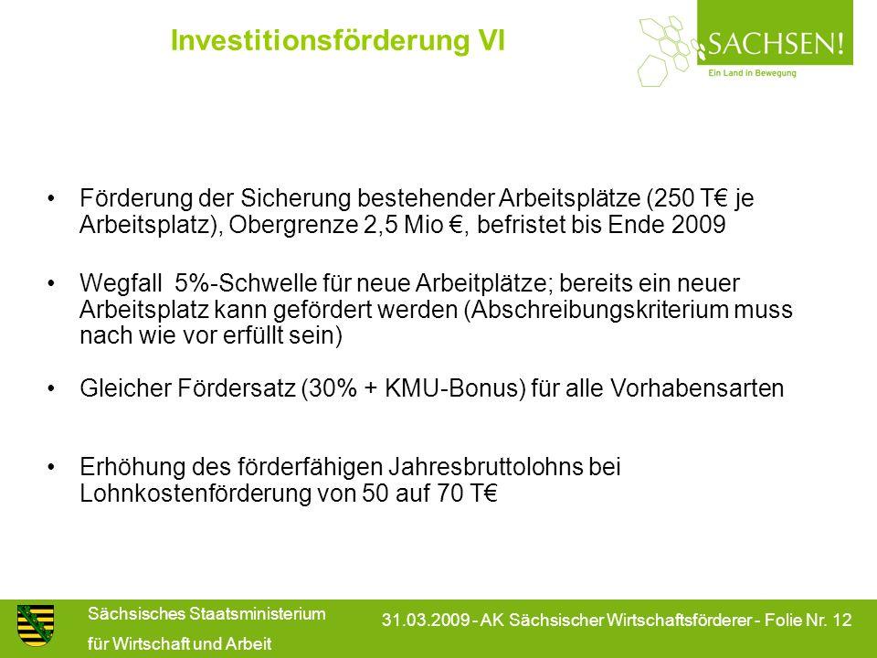 Investitionsförderung VI