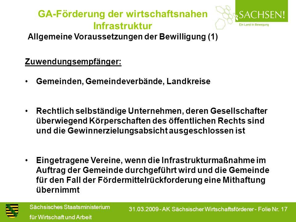 GA-Förderung der wirtschaftsnahen Infrastruktur