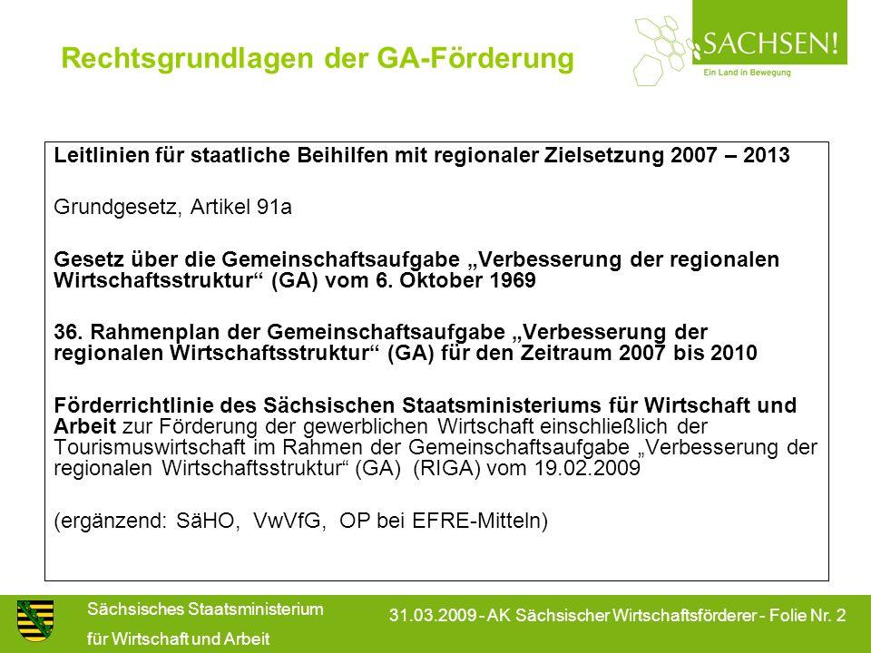 Rechtsgrundlagen der GA-Förderung