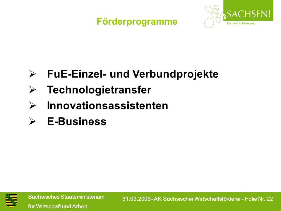 FuE-Einzel- und Verbundprojekte Technologietransfer