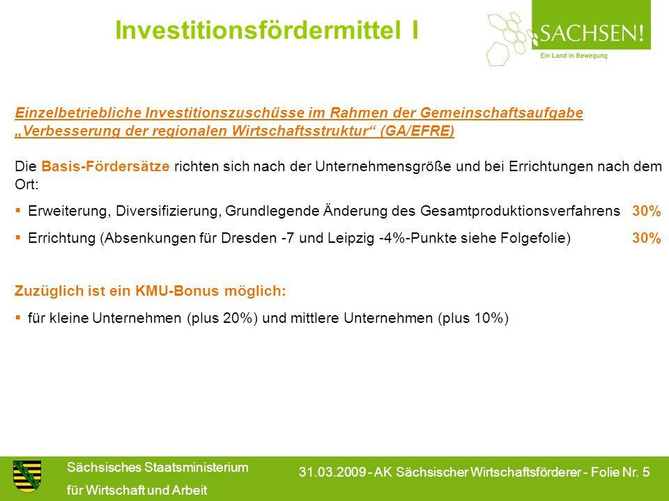 Investitionsfördermittel I