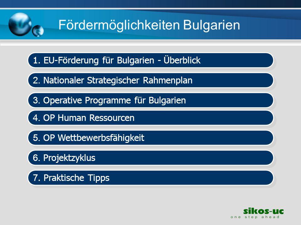 Fördermöglichkeiten Bulgarien