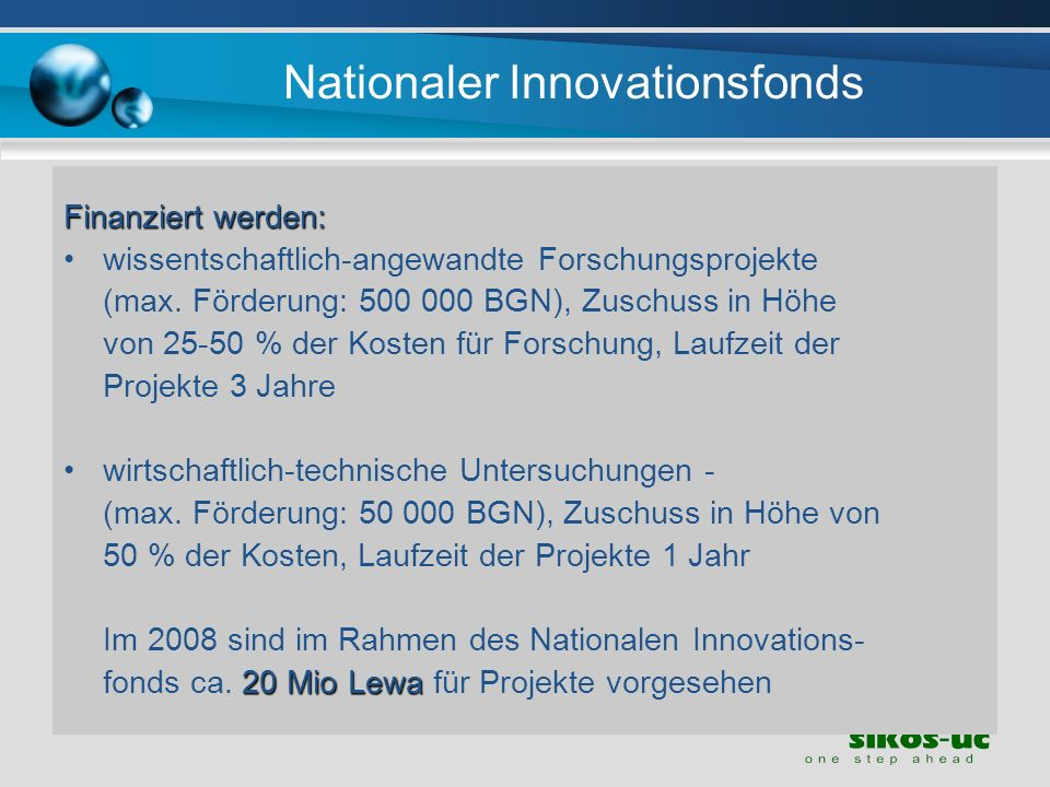 Nationaler Innovationsfonds