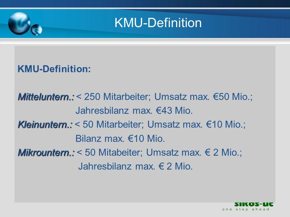 KMU-Definition KMU-Definition: