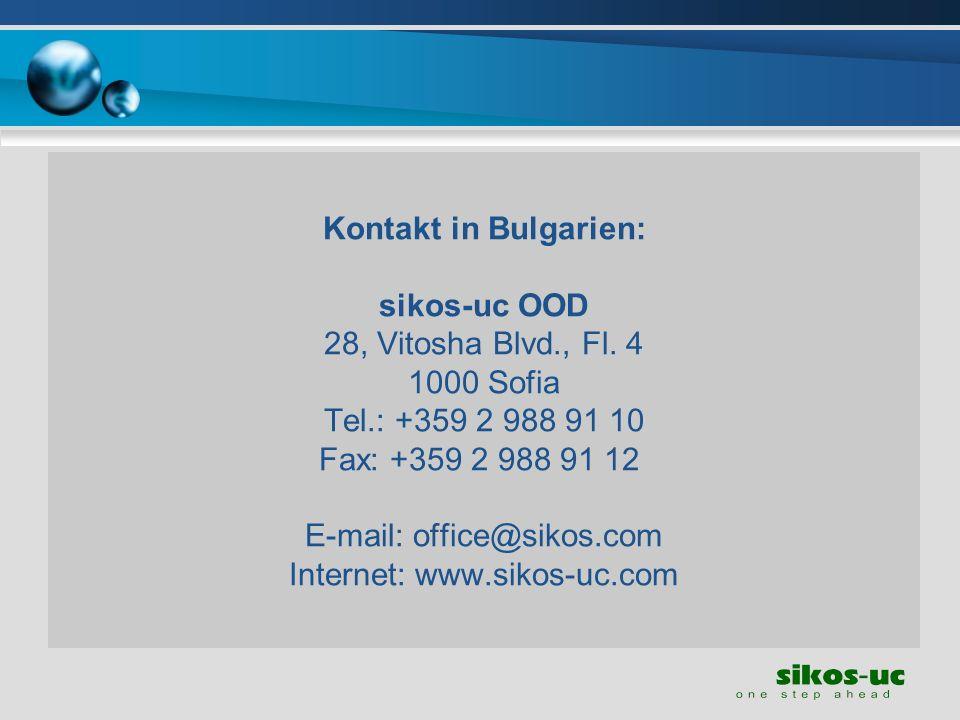 Kontakt in Bulgarien: sikos-uc OOD