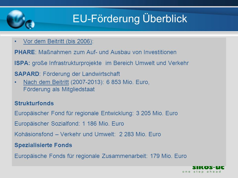 EU-Förderung Überblick