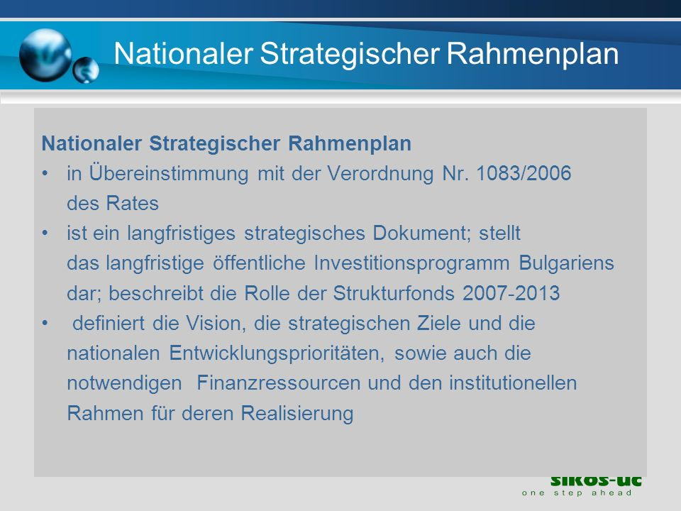 Nationaler Strategischer Rahmenplan