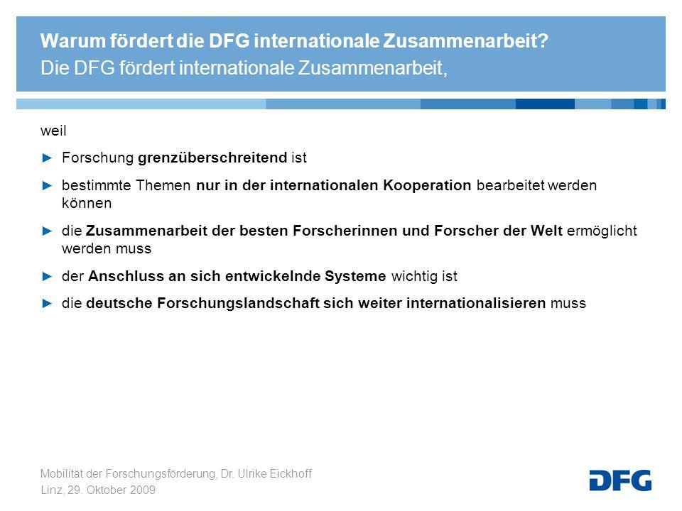 Warum fördert die DFG internationale Zusammenarbeit