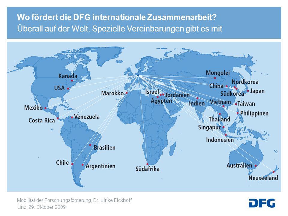 Wo fördert die DFG internationale Zusammenarbeit. Überall auf der Welt