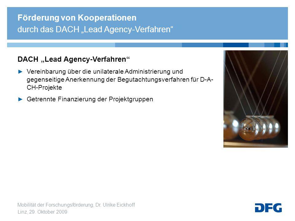 """Förderung von Kooperationen durch das DACH """"Lead Agency-Verfahren"""