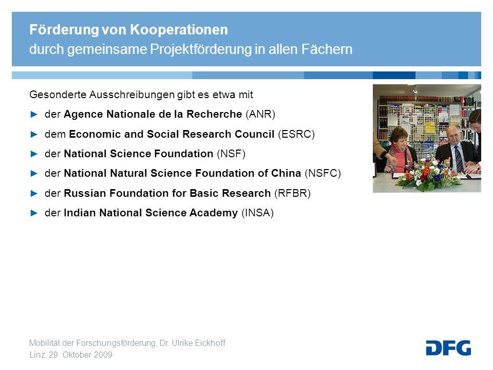 Förderung von Kooperationen durch gemeinsame Projektförderung in allen Fächern