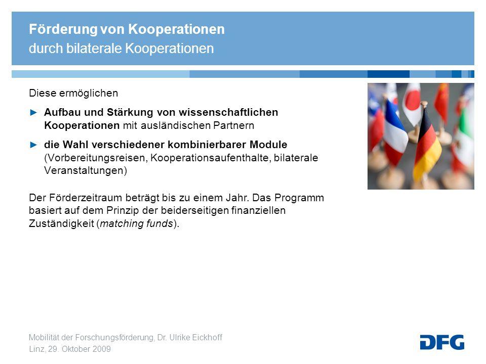 Förderung von Kooperationen durch bilaterale Kooperationen
