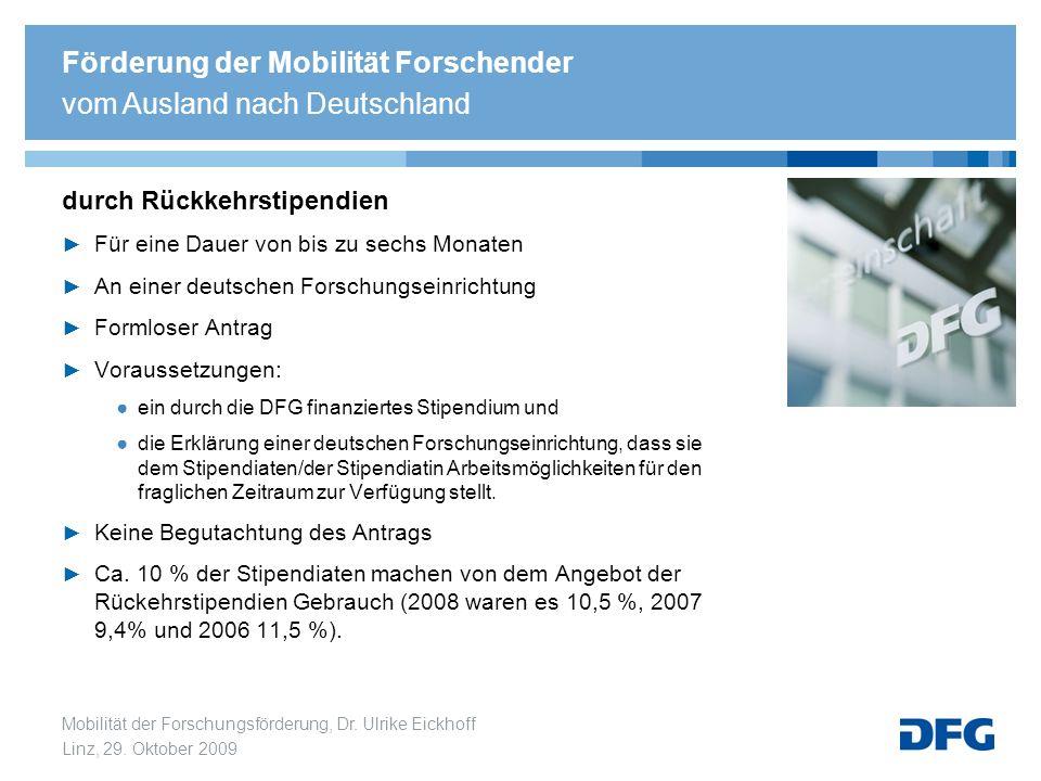 Förderung der Mobilität Forschender vom Ausland nach Deutschland