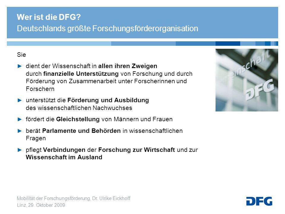 Wer ist die DFG Deutschlands größte Forschungsförderorganisation