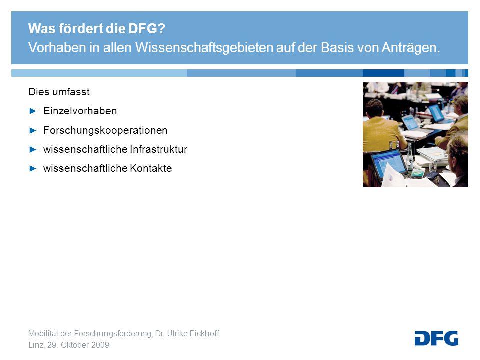 Was fördert die DFG Vorhaben in allen Wissenschaftsgebieten auf der Basis von Anträgen.
