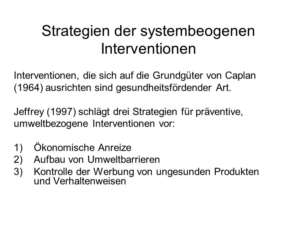 Strategien der systembeogenen Interventionen