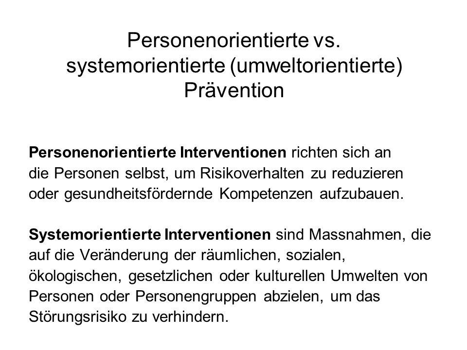 Personenorientierte vs