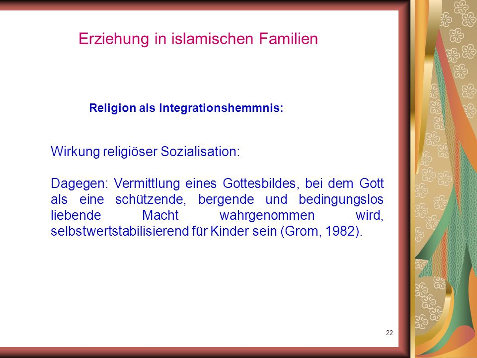 Erziehung in islamischen Familien