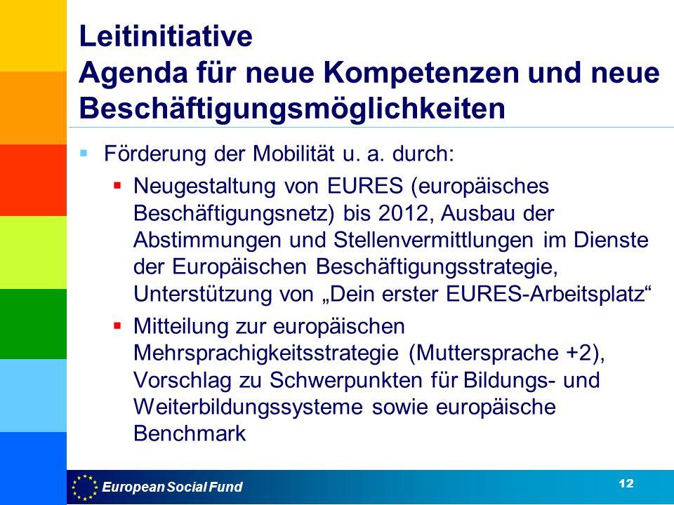 Leitinitiative Agenda für neue Kompetenzen und neue Beschäftigungsmöglichkeiten