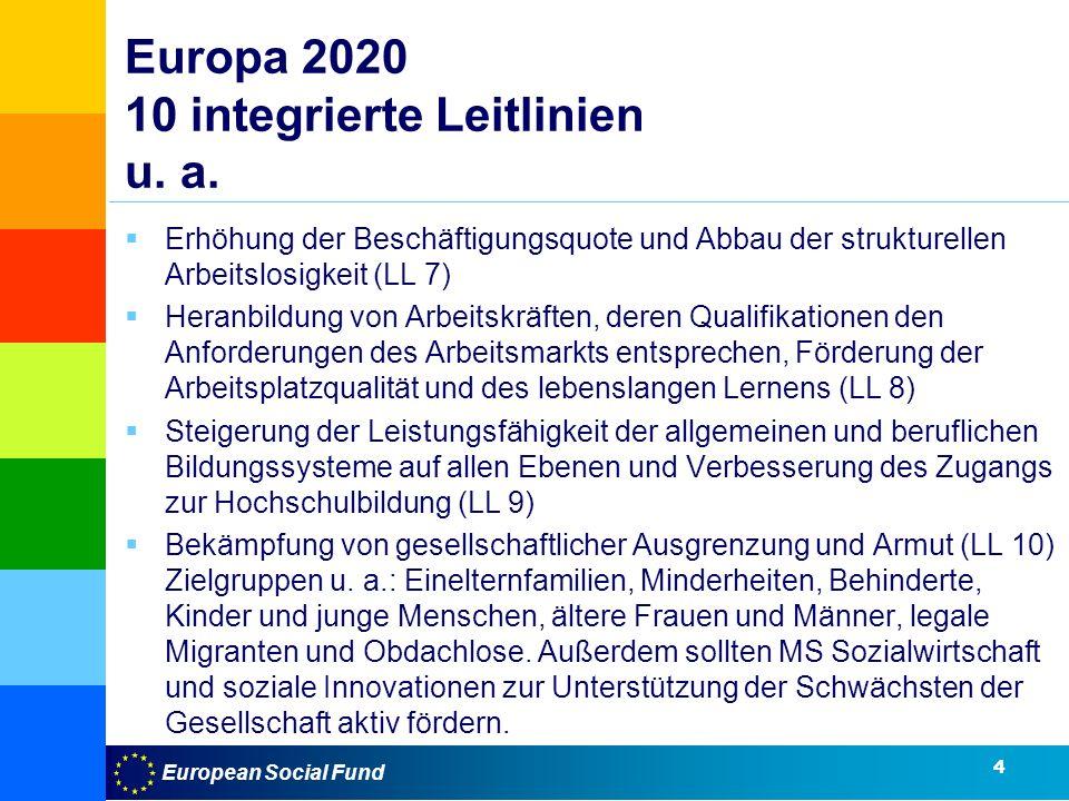 Europa 2020 10 integrierte Leitlinien u. a.