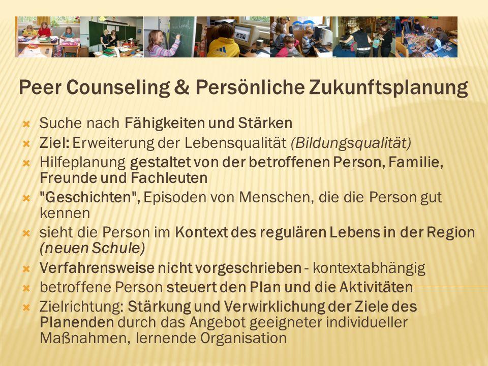 Peer Counseling & Persönliche Zukunftsplanung