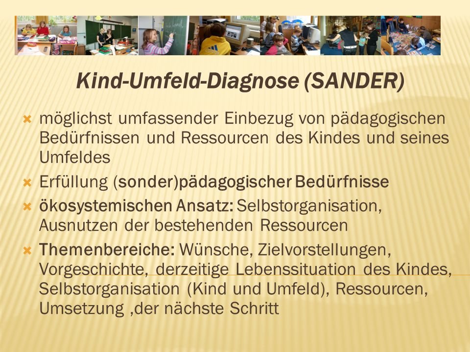 Kind‑Umfeld‑Diagnose (SANDER)
