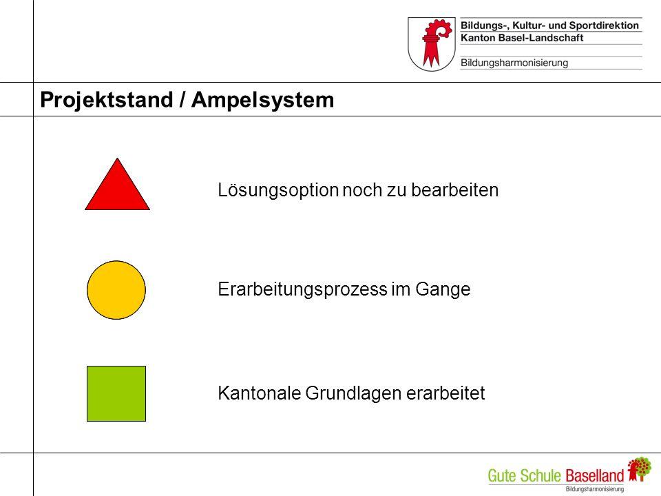 Projektstand / Ampelsystem